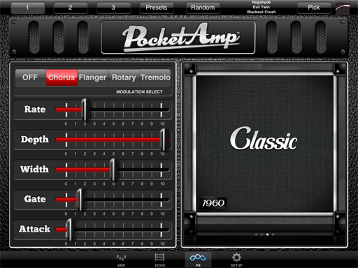 pocketamp guitar amp and effects app for ipad iphone and ipod touch. Black Bedroom Furniture Sets. Home Design Ideas